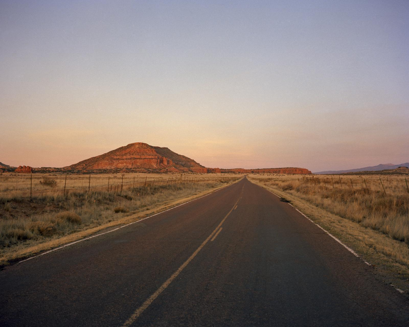 Haystack Mesa, site of the first uranium find, Grants, New Mexico, 2016