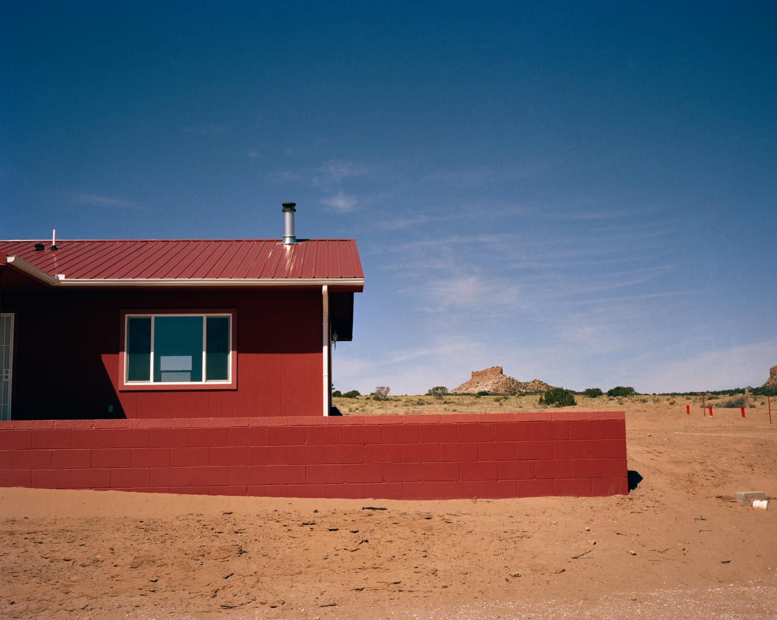 Haystack, New Mexico, USA, April 4, 2016  A new home built to replace a contaminated structure in Haystack. Several structures in Haystack, were built with contaminated materials from abandoned uranium mines, presenting critical health risks for residents, From 1950 through 1980's uranium was mined across 27,000 square miles in New Mexico, Arizona and Utah to provide material for the US nuclear weapons program. Many Navajo worked in the mines and ended up dying of lung cancer, kidney failure and other cancers. Uranium has been found in the urine of Navajo children today.