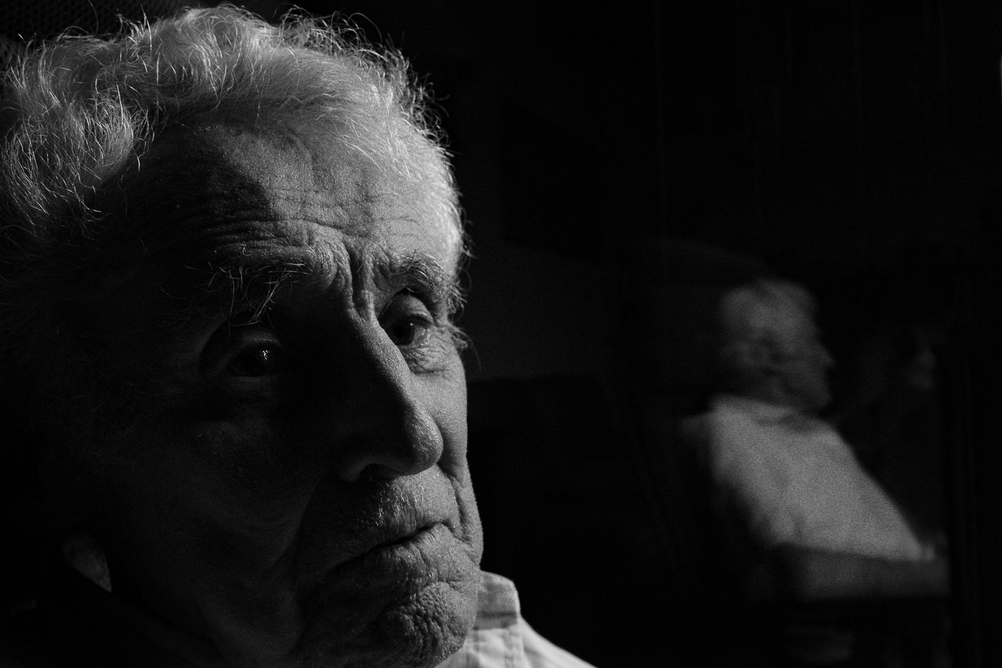 Portrait serré de mon grand père, George Valette