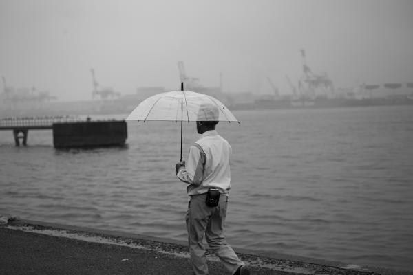 Nagoya Harbour ... grey, smoky, lonely. Holding a Mirror up to Ourselves