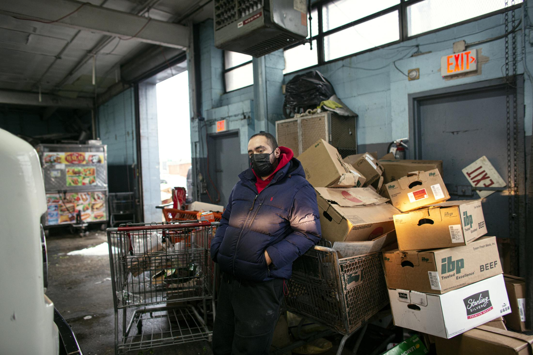 Mahmoud Ibrahim, a second generation Egyptian from Queens, poses for a photo at the commissary on Tuesday, January 26, 2020. Ibrahim and his family are among the street vendors who have been forced to close their business due to difficulty obtaining licenses to sell food on the street.