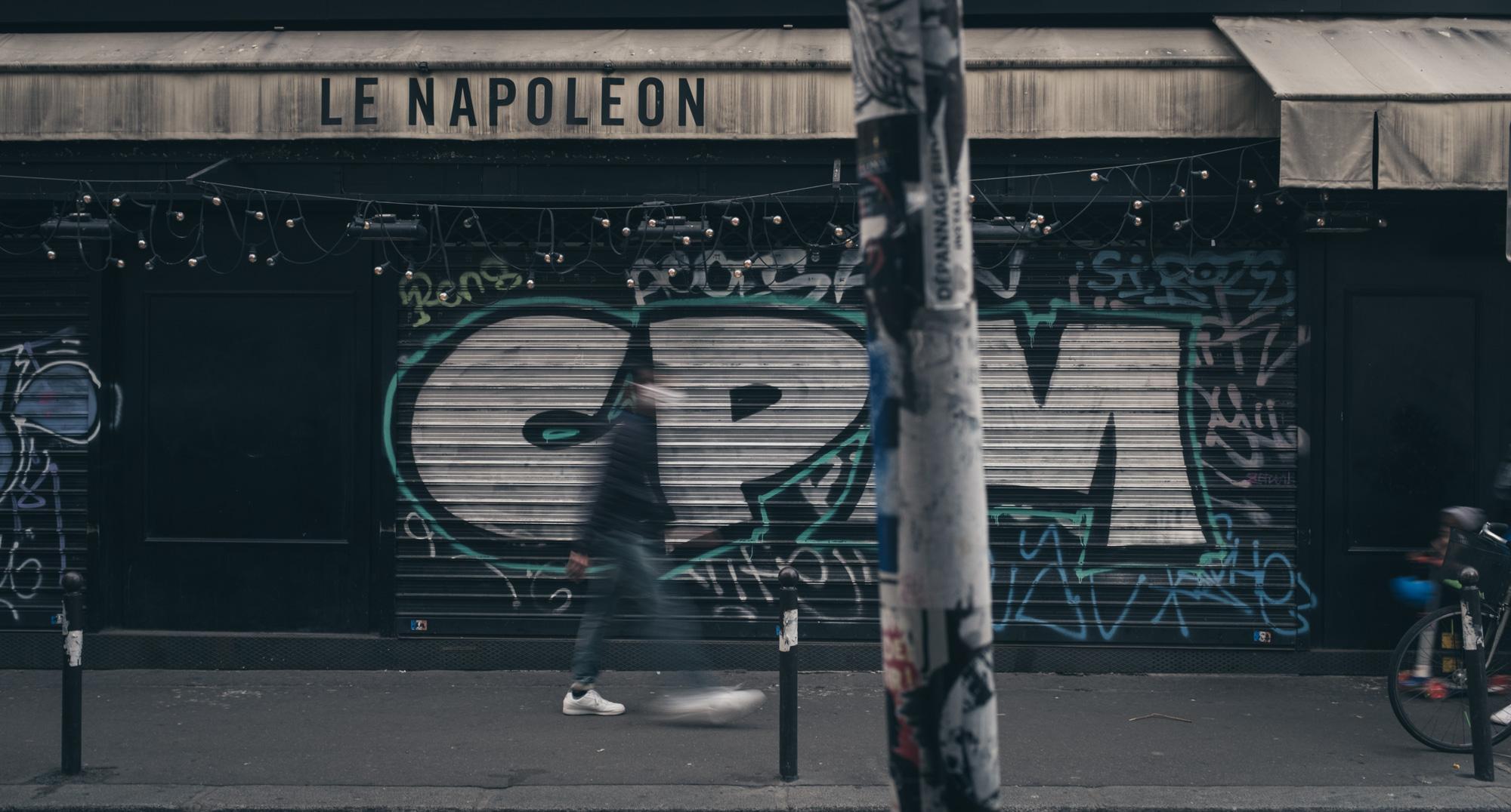 Le Napoléon - Faubourg St Denis. Covid side effects in Paris.