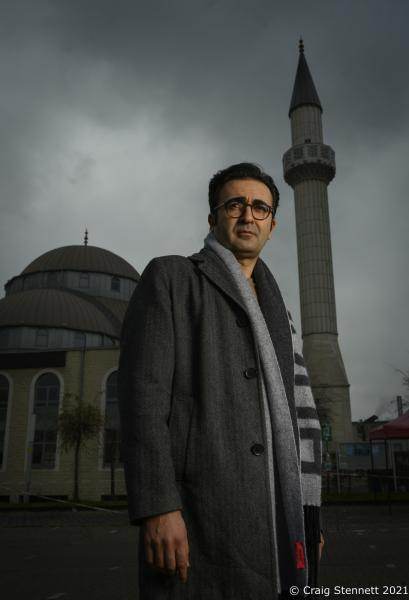Professor Rauf Ceylan is a sociologist and author. He is professor of sociology of religion and sociology of migration at the University of Osnabrück. Photographed outside DITIB-Merkez-Moschee in Duisburg,