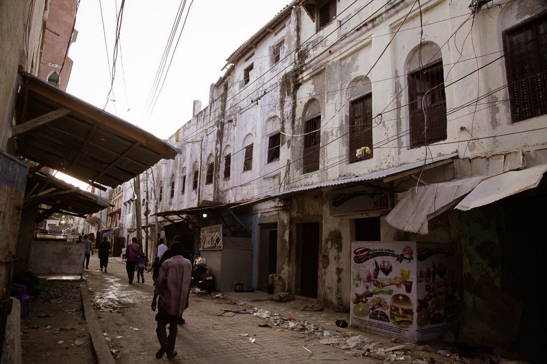 Pathway in Xamar Weyne, Somalia.