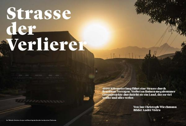 BR 101, Brazil's oil boom and bust highway, for Das Magazin