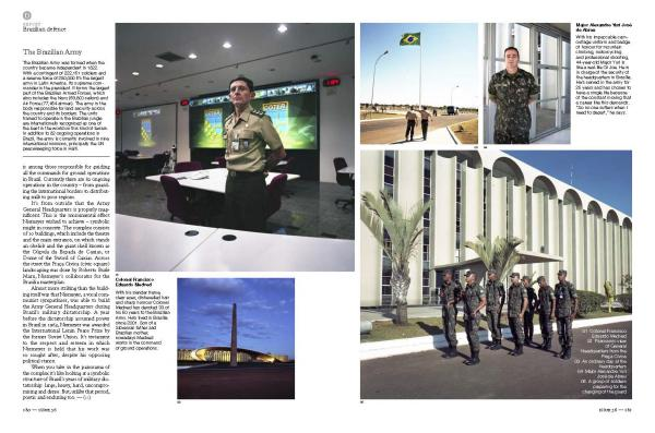 Brazil's Army Ministry, and its iconic headquarters designed by architect Oscar Niemeyer, for Monocle magazine