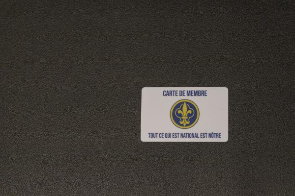 Carte de membre, de Louis.  Membership card, from Louis.