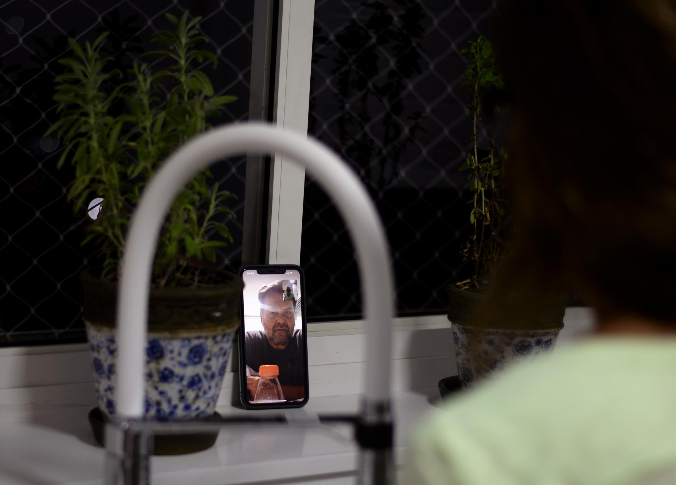 Communication with my dad was always through video calls. We would try to have meals online and spend time with him online. We didn't want to leave him alone