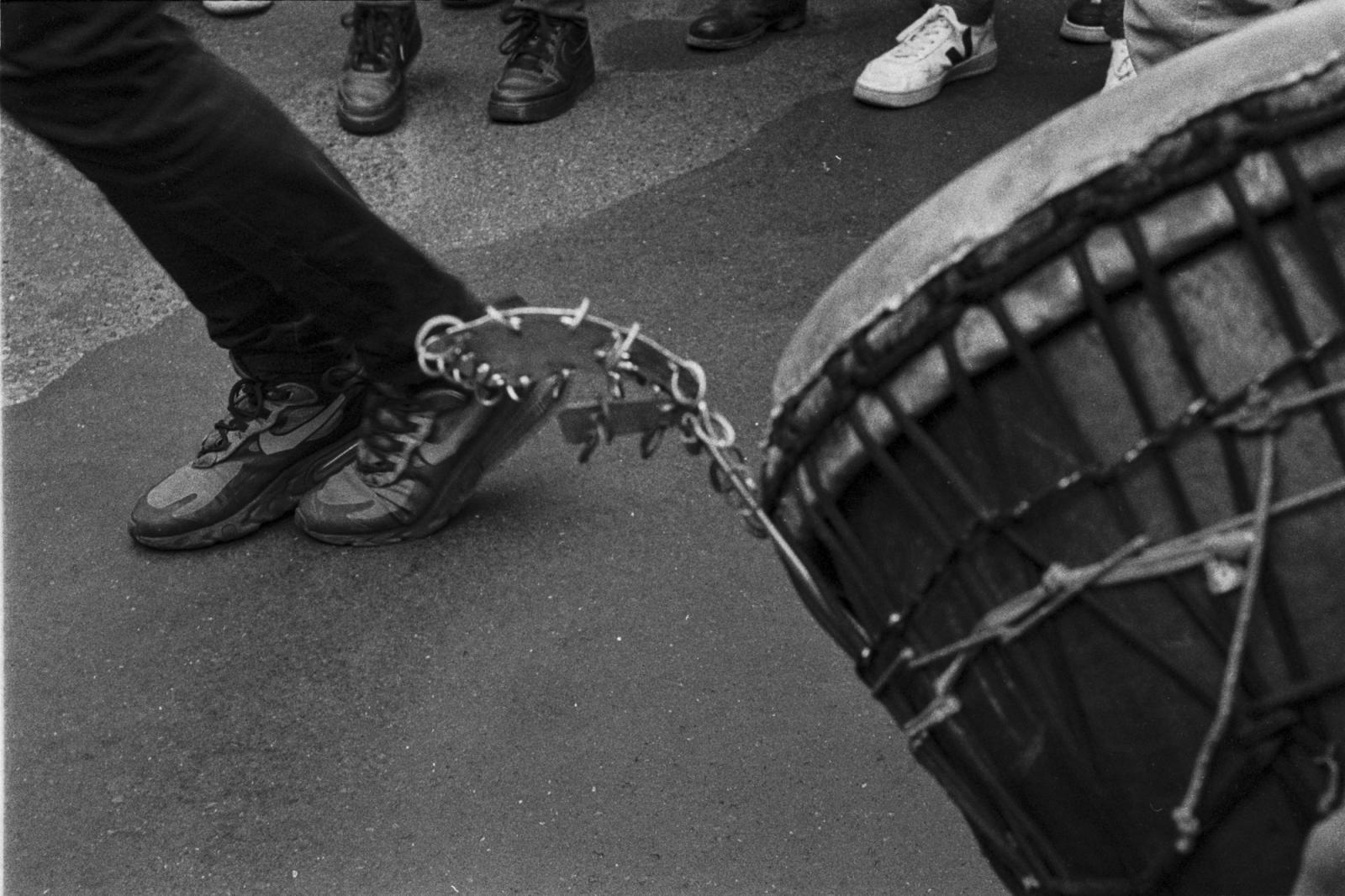 Manifestation des sans-papiers le samedi 17 Octobre 2020. Les manifestants viennent de la France entière. Ils se sont regroupés à Place de la République à 14h après leur longue marche qui a commencé le 19 Septembre 2020.
