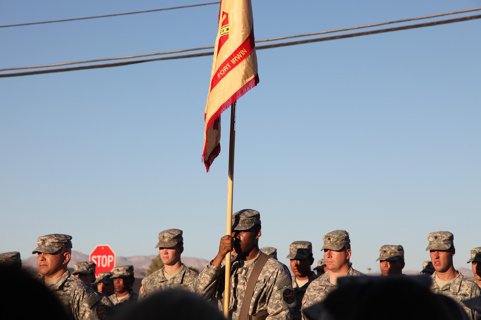 Change of command ceremony, Fort Irwin, CA