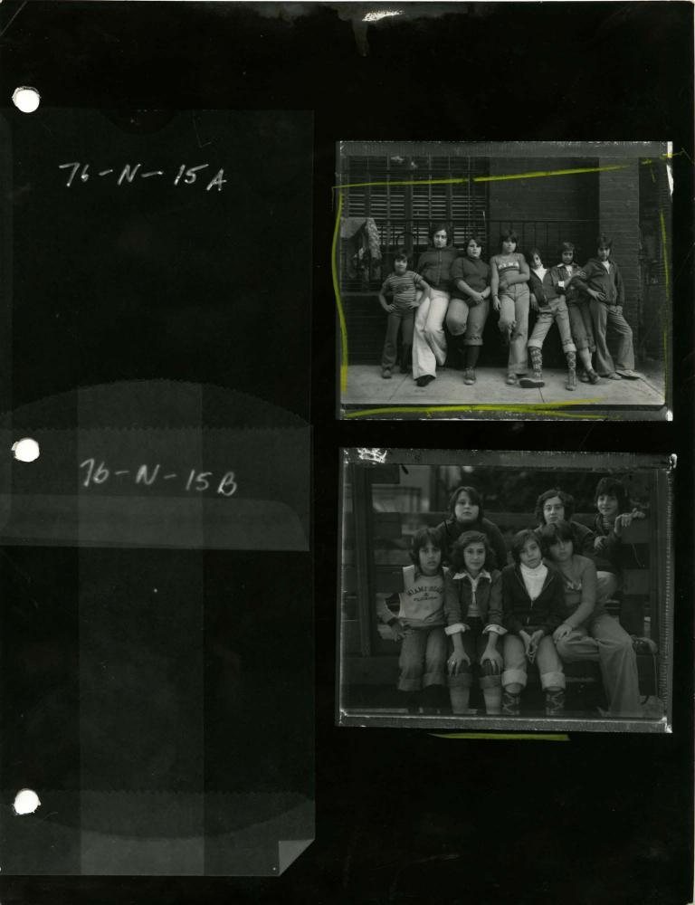 Photography image - Loading Contact_sheet__Group_portraits_on_Mott_street__1976.jpg