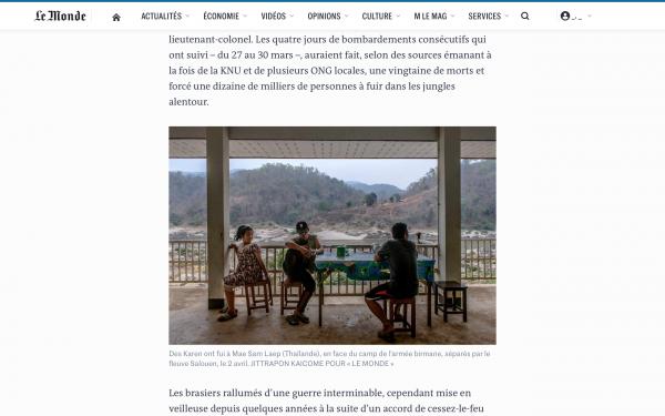 Tragedy on the Burmese border  Published on April 6, 2021.