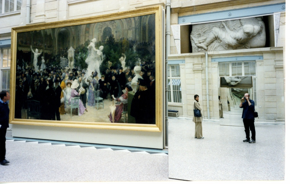 Art and Documentary Photography - Loading Self Portrait with future wife in Rouen Art Museum.jpg