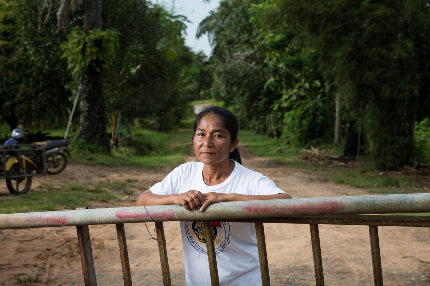 Chusri Oranakit, a member of Southern Peasants' Federation of Thailand (SPFT) a land rights organisation working in Surat Thani and Krabi Provinces, Thailand.