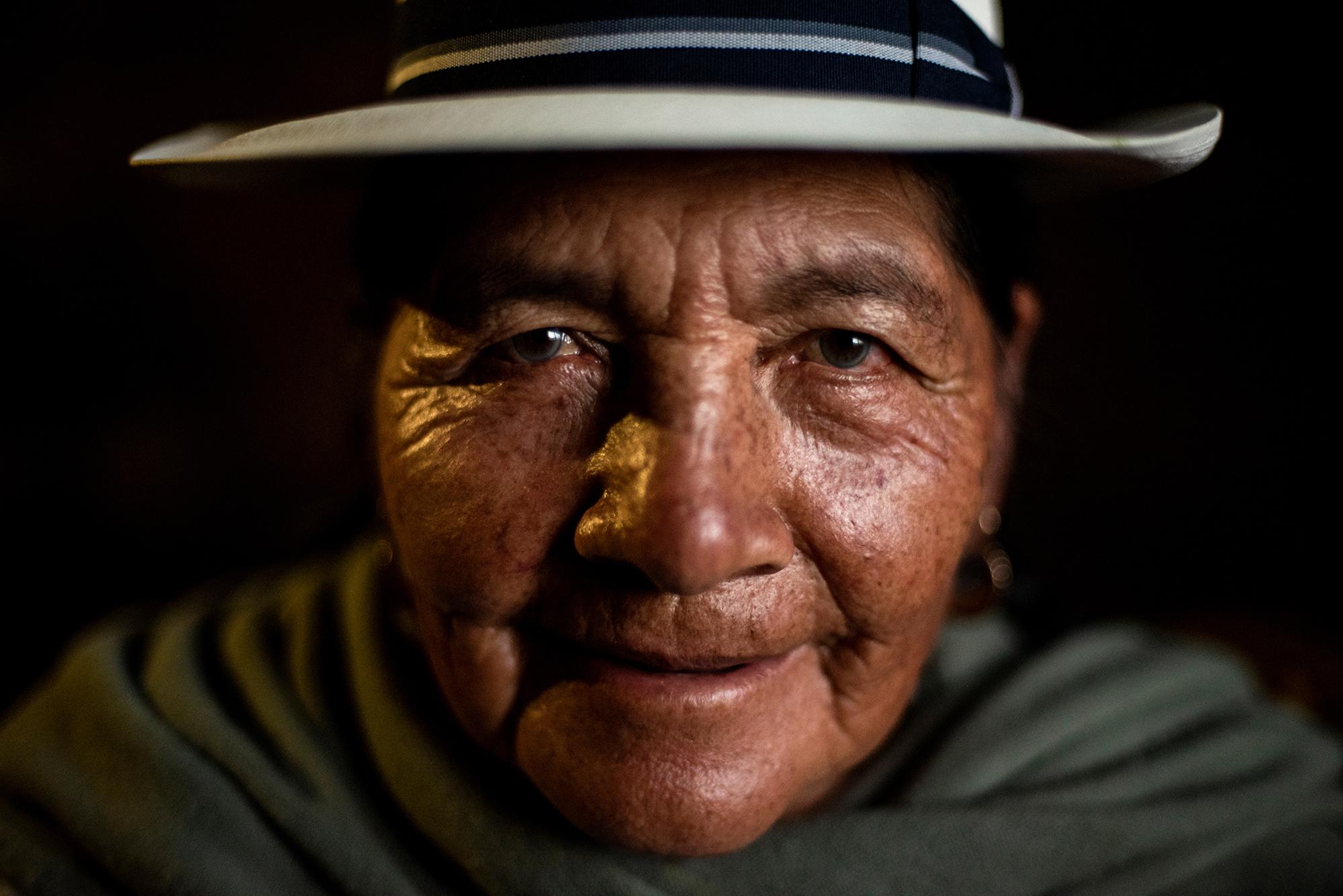 Julia Tacuri (79) is a Kañari indigenous woman who is part of the defense of the water. Her three sons immigrated to the US 30 years ago after de ending 90´s economic crisis in Ecuador. She works in agriculture and taking care of her animals in Tarqui community. March 21, 2020.Cuenca, Ecuador. Johis Alarcón for The New York Times.