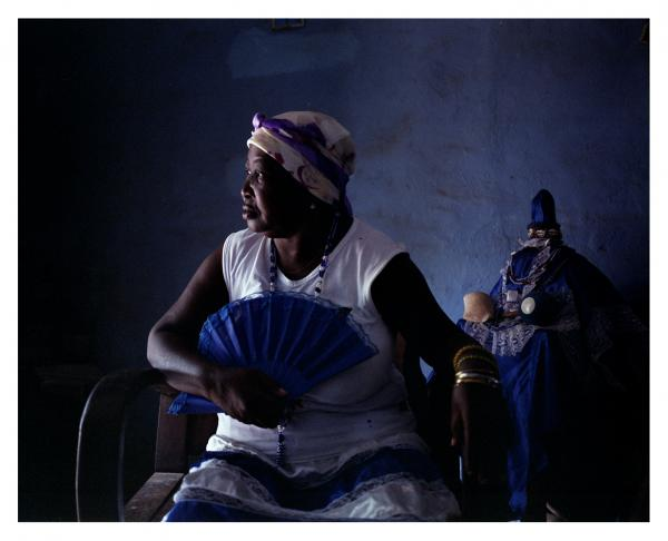 Regla Maria Fernandez Madan has been a daughter of Yemaya-Aflekete for over 30 years. She practices the  Arara  tradition, but because of the loss of knowledge in this religious heritage, memory gaps where filled by the Yoruba tradition of  Regla de Ocha . Agramonte, Cuba © Laeïla Adjovi