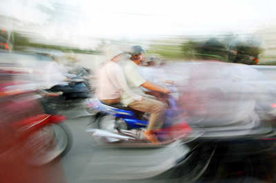 Cambodian Motorcycle Riders