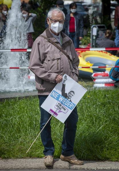 With Regional State Parliamentary Elections coming on the 6th of June this year. Young and old came out for a day of Unteilbar (undivided) to show solidarity against the forces of the right at August-Bebel-Platz in Halle (Saale), Saxony-Anhalt, Germany.