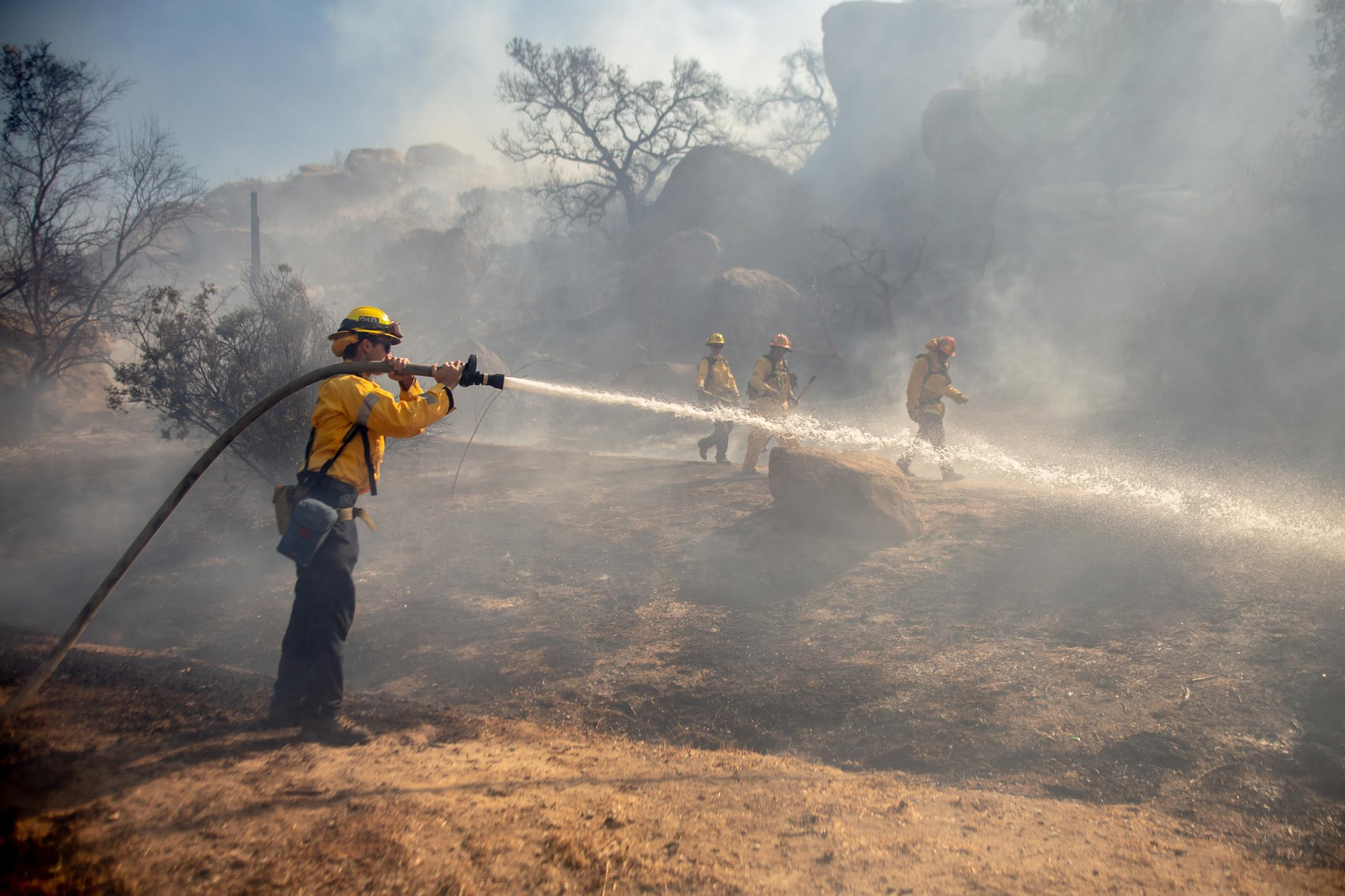 The state of California faced its worst fire season in history. One of the worst fires located in Los Angeles and Ventura County, named the Woolsey Fire. This wildfire burned; 96,949 acres and destroyed 1,643 structures. Three people reported to have died in the blaze, and over a quarter-million evacuated. Firefighters put out any remaining hotspots from the passing wildfire.