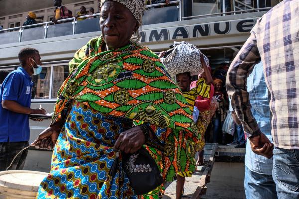 The displaced of the Nyiragongo eruption in Bukavu