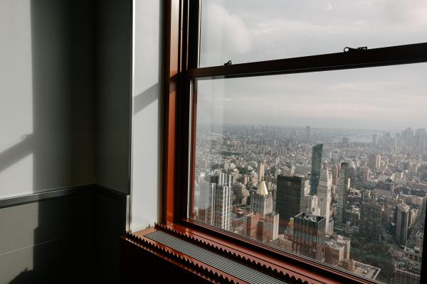 Window view on the 80th floor of the Empire State Building