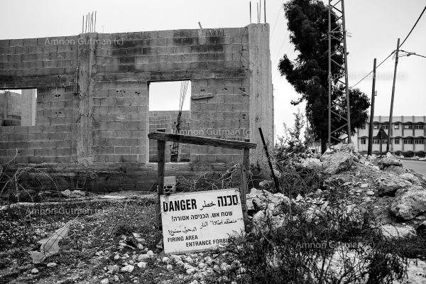 A house in Ar Ramadin village. The building process was stopped by Israeli authorities on the pretext it was illegal to build.