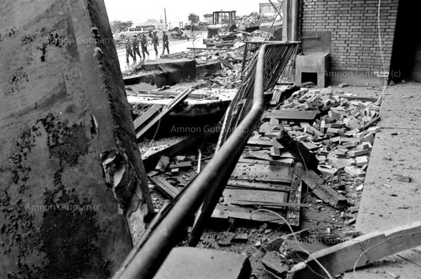 The aftermath of the 7.8 magnitude quake in the town of Hongbay, Sichuan province.