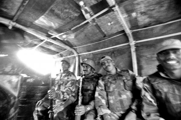 Indian MONUC (UN peacekeeping force) soldiers, during a patrol in FDLR controlled area. Rutshuru, North Kivu.