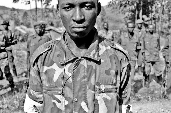FDLR Hutu militia, at their camp, Kahungwe, South Kivu.
