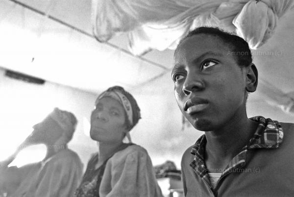 A group of women that were raped by soldiers loyal to renegade general Laurent Nkunda (a Tutsi warlord and enemy of the FDLR) in Masisi, reciving treatment at a hospital in Goma, after they were able to escape from Masisi.