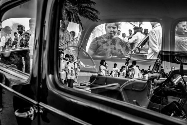 Car Window reflection won NAT GEO moment award 2014