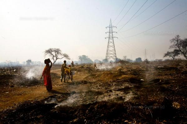 Daily life at the village of Patrapaly, which borders the main steel plant in Raigarh city, Chhatisgrah.