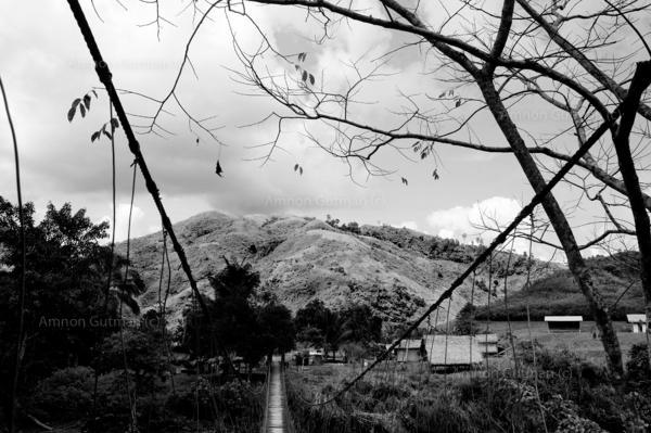 The bridge that leads into Pigaluman village.