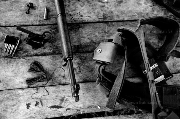 The guns being used by the illaga, most of their weapons are from WW2 , when American forces fought the Japanese.