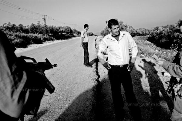 During a patrol on one of the roads that leads to Mevo Dotan settlement, near Jenin.