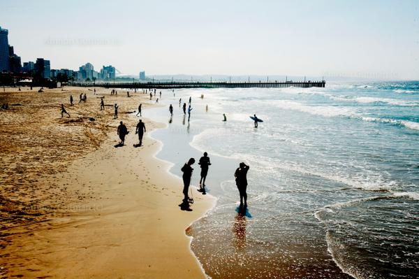 One of the many beaches in Durban, South Africa, where the circumcision clinic is located.