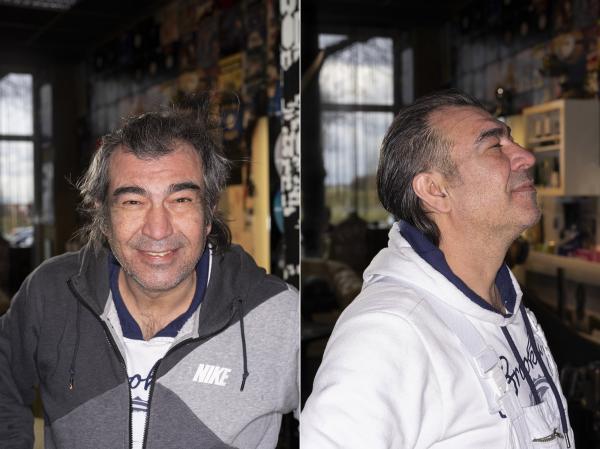 """1. Ibrahim, Berlin Tempelhof.   DANACH: """"Jetzt bin ich ein Star, danach"""".  AFTER: """"Now I am a star, after"""""""