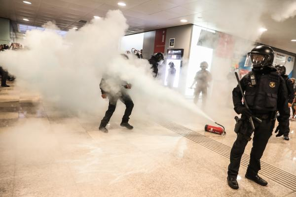 Barcelona Airport Blocked