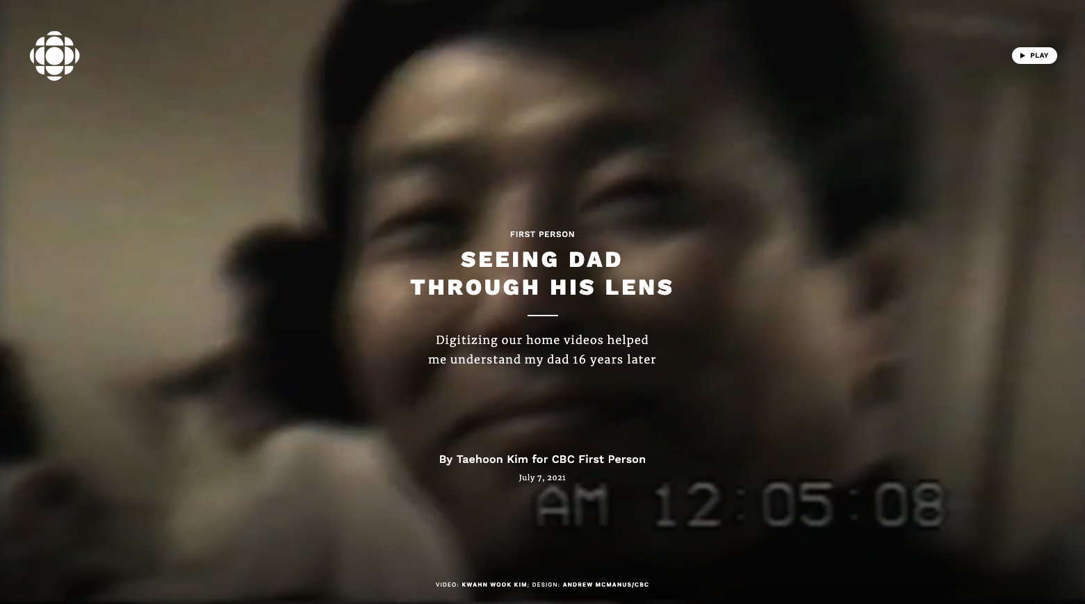 Seeing Dad Through His Lens (CBC)