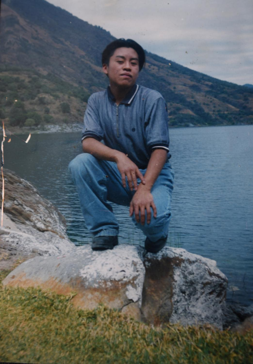 Photo archive 2005, Guatemala. Portrait of Juan Ratzan at the age of 22 in front of Lake Atitlan, in Guatemala. A few years later, Juan Ratzan decided to recognize his true identity and changed his name to María Alejandra, known to her friends as La China.