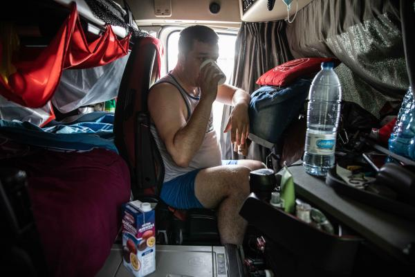 Loneliness and Intimacy of a Truck Driver