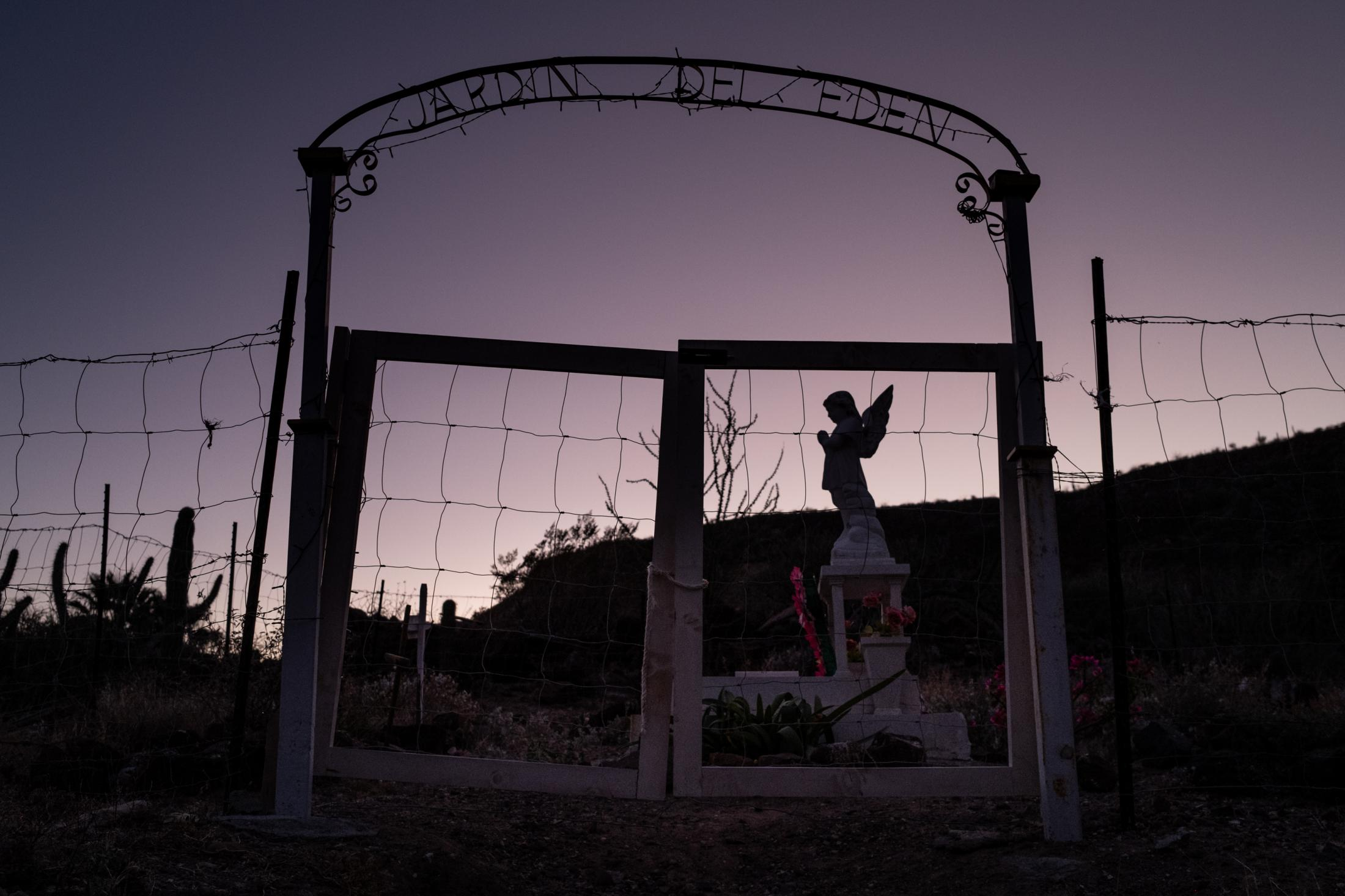 The newest cemetery in San Jose de Gracia, Baja California, Mexico, January 17th, 2021. The small community has at least four different cemeteries generationally identified. The town lost most of its population after Hurricane Lester in 1992, the biggest storm the community has faced in its history.