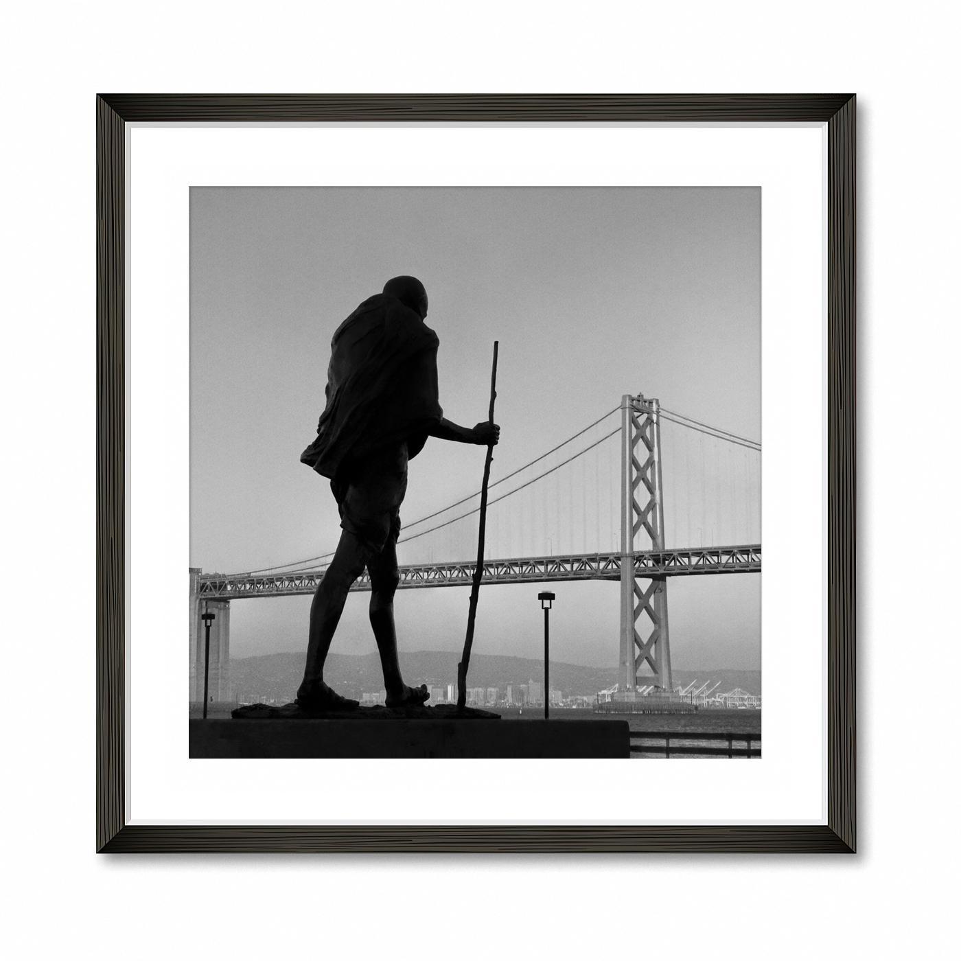 January - Gandhi over Bay Bridge