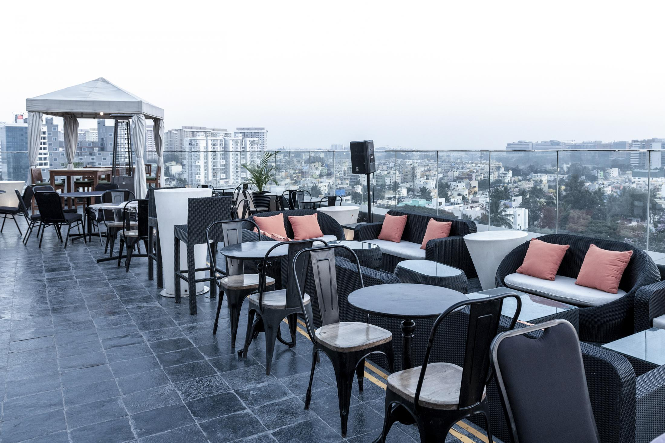 Rooftop restaurant in one of the renowned shopping malls of Bangalore.