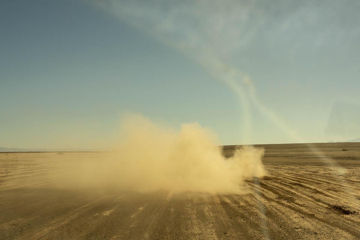 Salt flat near La Punta lagoon, Atacama Desert, Chile. 2021