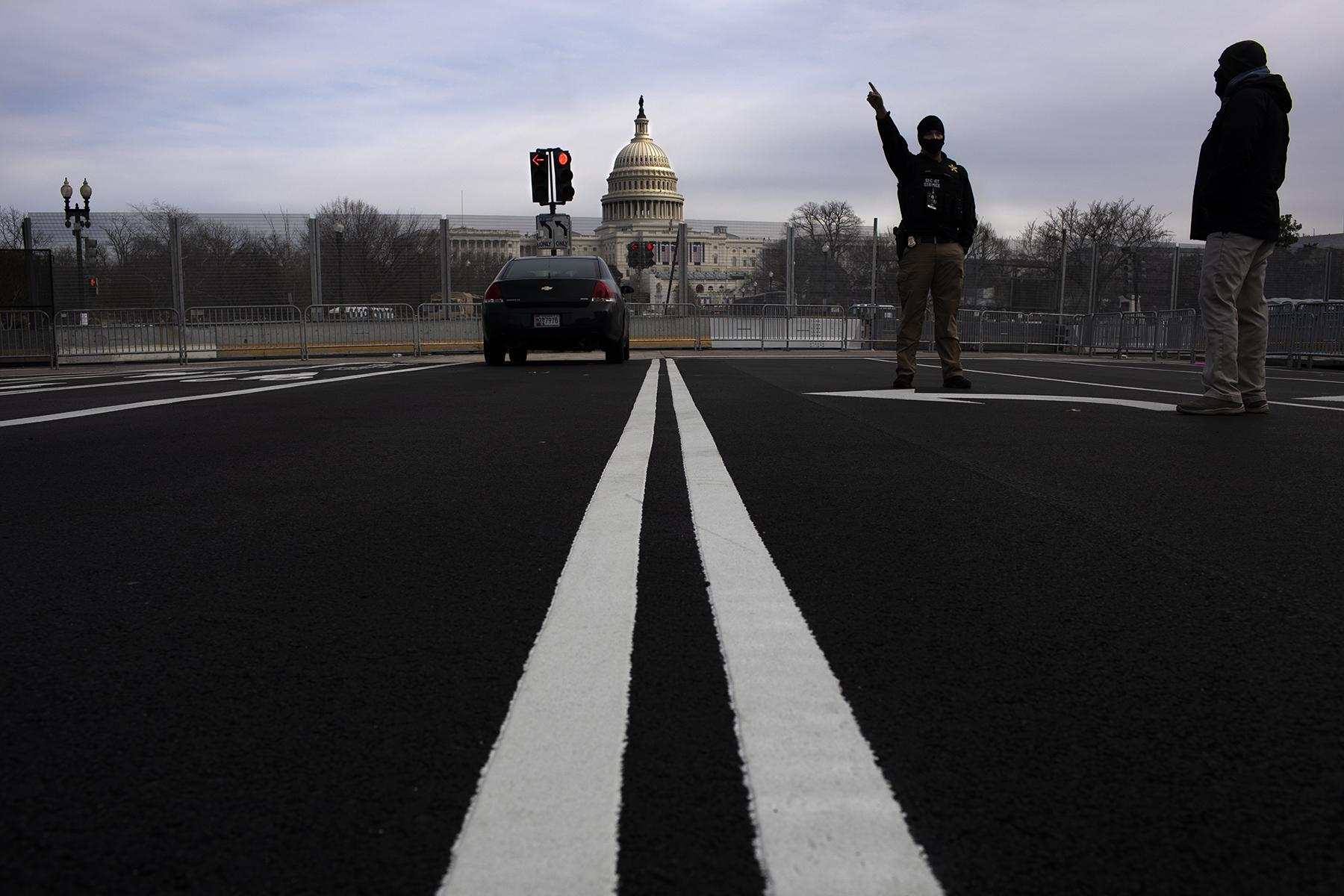 Around D.C. inside the fencing that's all around downtown D.C. before the Biden Inauguration, January 16, 2021.