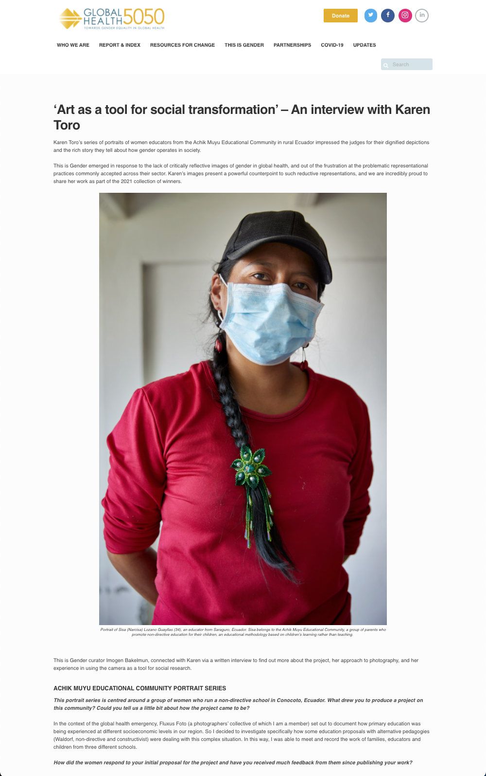 GLOBAL HEALTH 5050 - 2021 - Interview + Publication - web