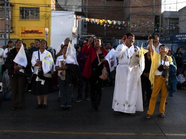 México, D.F. 13 de febrero de 2016. Visita del papa Francisco a México. En el primer día de actividades, visitó Palacio Nacional, Catedral y la Basílica. Foto: Sara Escobar