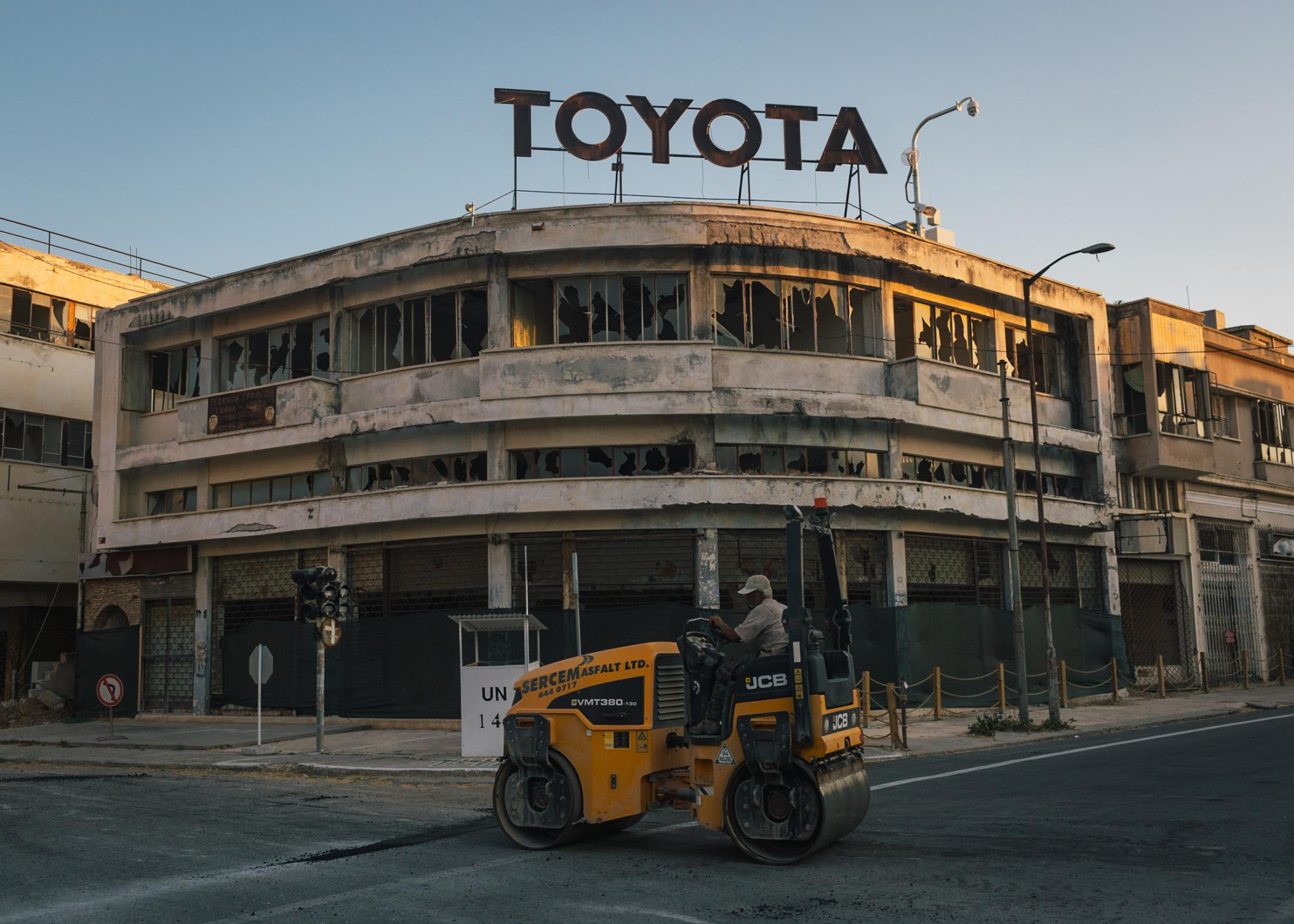 Toyota branch in Democracy Street of the ghost town of Famagusta.