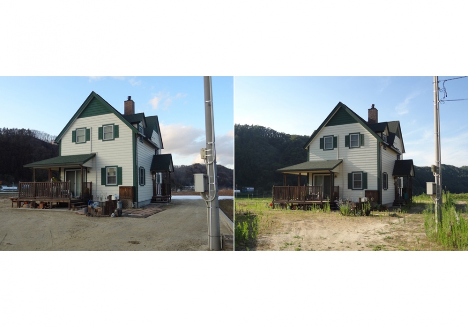 Our house before and after the decontamination. Ryozen, Date is a town in Date city, north of Fukushima Prefecture, 55 kilometers northwest of the Fukushima Daiichi Nuclear Power Plant. Until the end of 2012, there were isolated spots in Fukushima that had radiation above the acceptable levels set by the government. Photo © Kaito Takamatsu / 311 KPJ IWATE